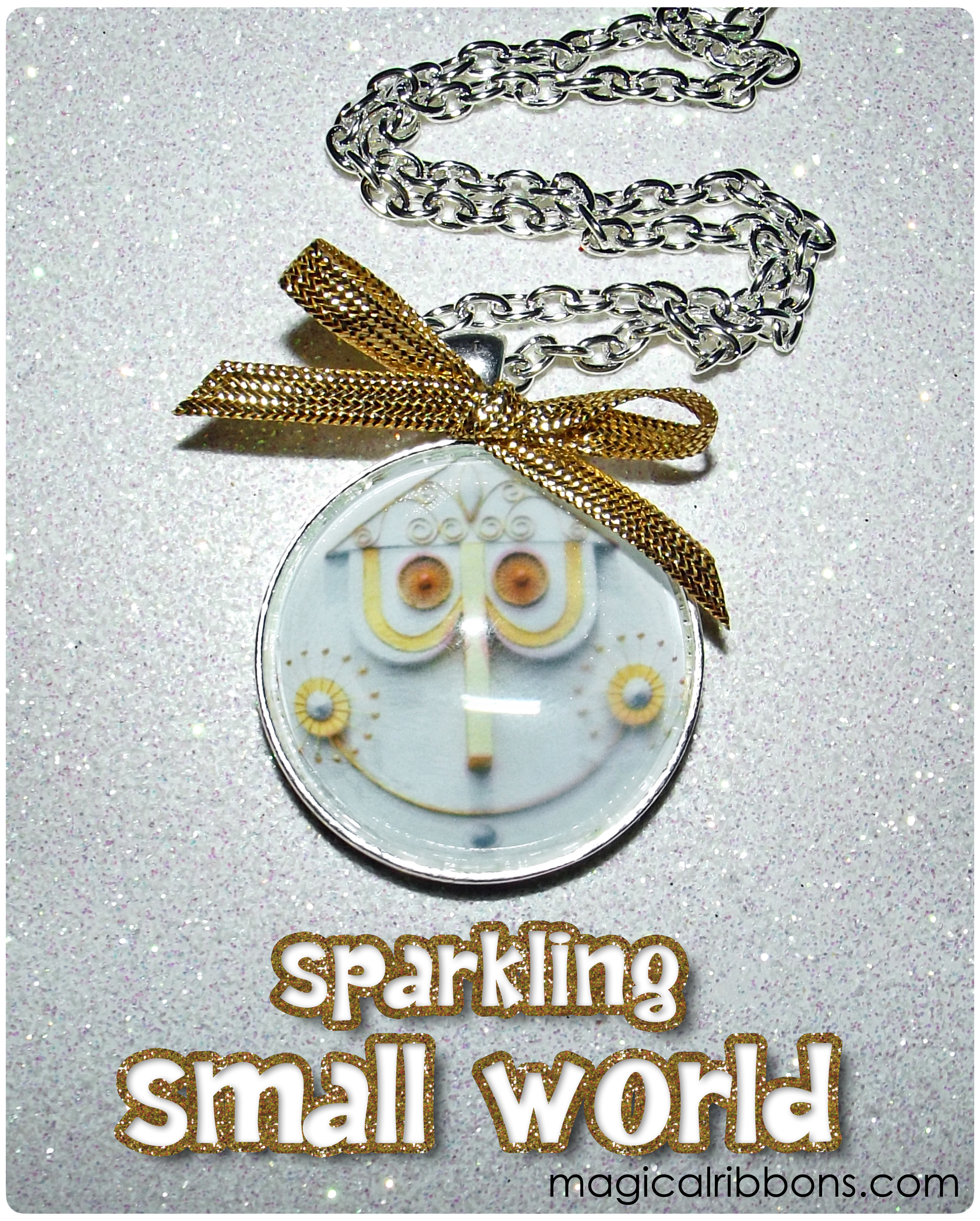 Sparkling Small World Necklace & Keychain